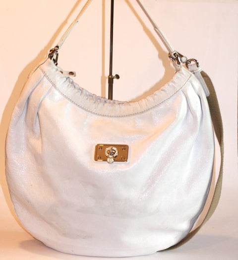 Marc By Marc Jacob White Hobo Large Bag - Joyce's Closet  - 1