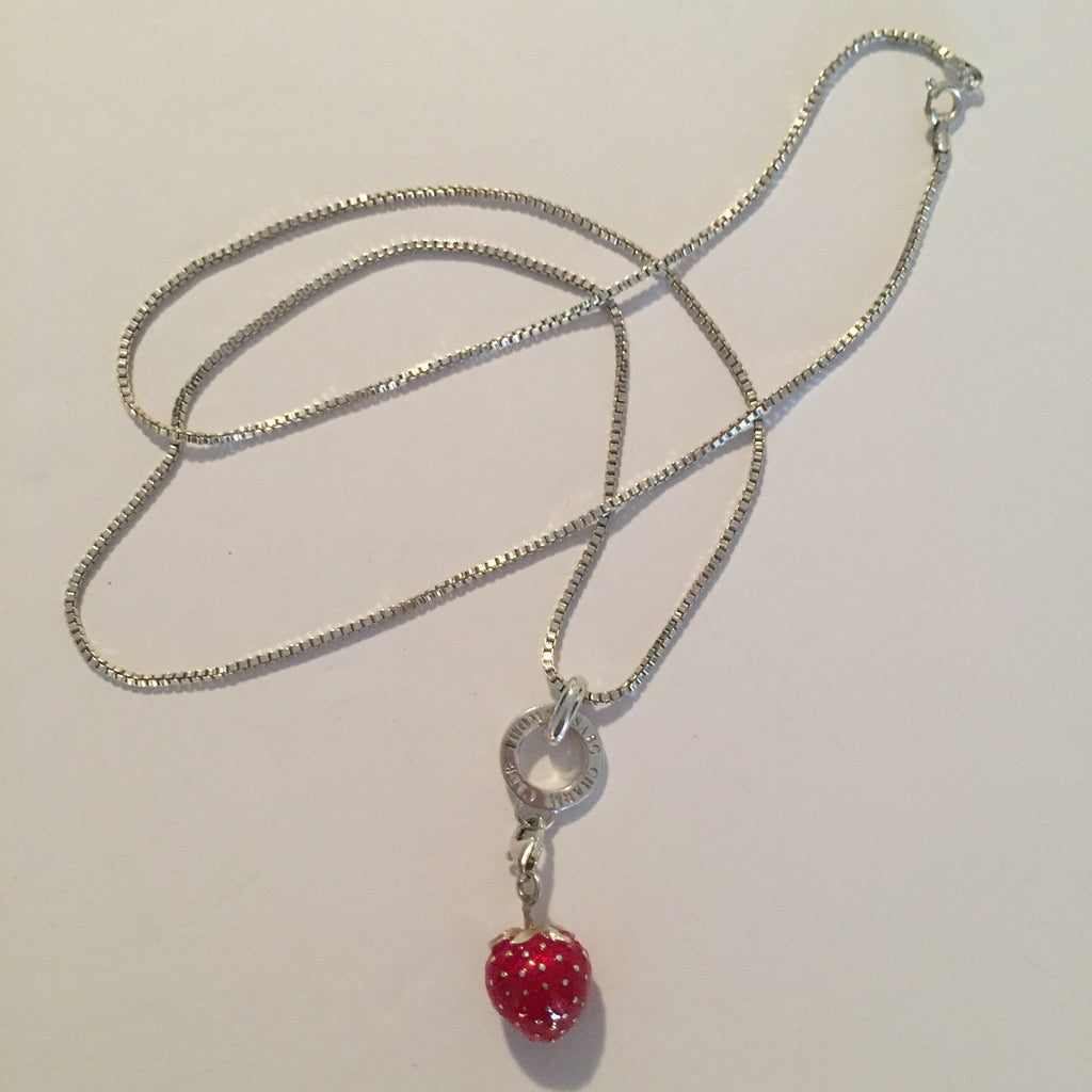 Thomas Sabo Charm Club Sterling Silver Strawberry Necklace - Joyce's Closet  - 1