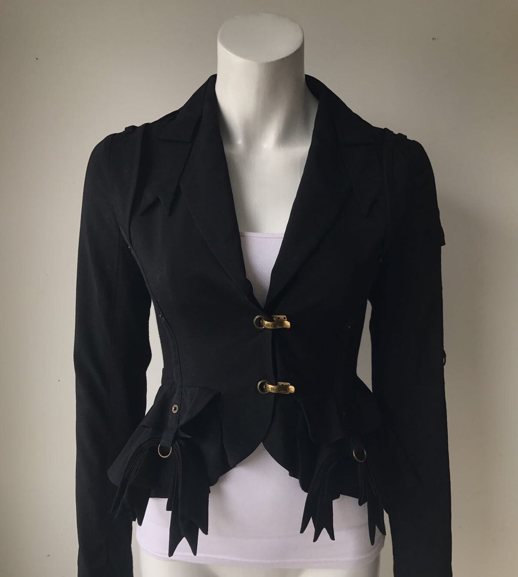 L.A.M.B Black Bow Detail Blazer Jacket Size 4