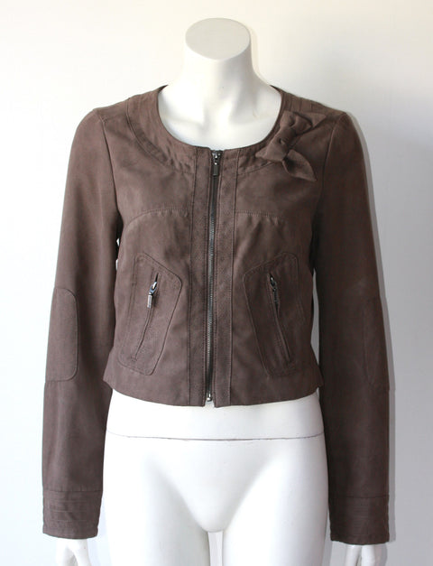 Brand New Mexx Long Sleeve Brown  Suede Jacket - Joyce's Closet  - 1
