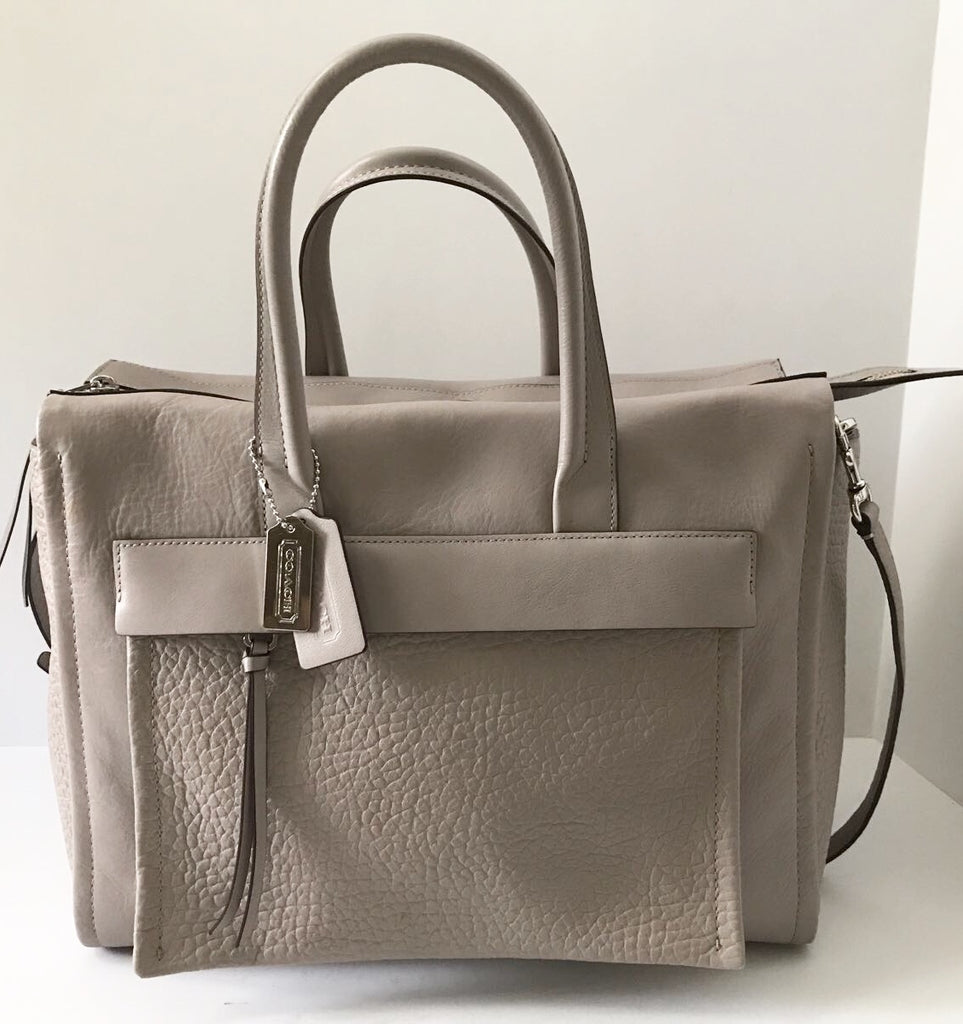 Coach Grey Bleecker Riley Large Leather Tote