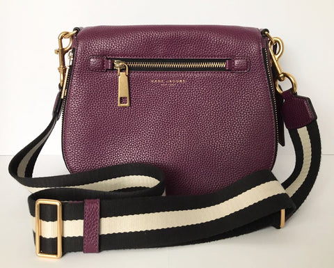 Marc Jacobs Purple Gotham Saddle Bag