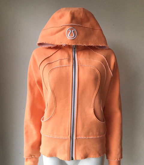 Lululemon Orange Scuba Hoodie Sweater Size 8