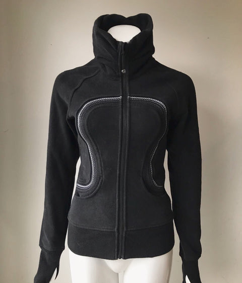 Lululemon Black Scuba Sweater Jacket Size 2