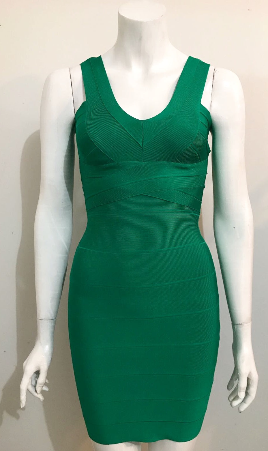 Bebe Green Bandage Dress Size XS