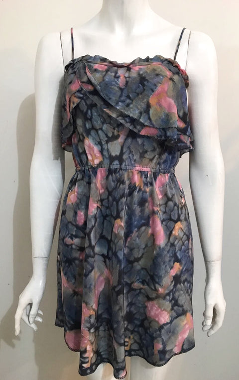 Wilfred Multi-Colored Silk Dress Size S
