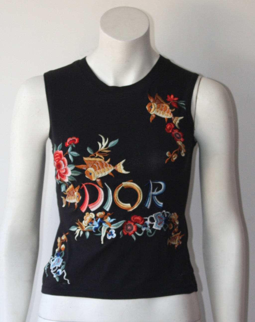 Christian Dior Embroidered Runway 2002 Tank Top - Joyce's Closet  - 1