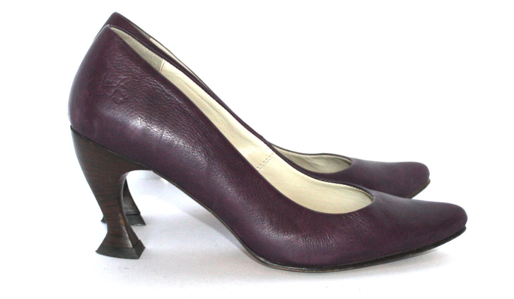 John Fleuvog Purple Abstract Heel Pump - Joyce's Closet  - 1