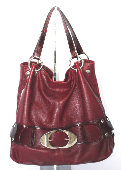 Arnold Churgin Red Leather Hobo Bag - Joyce's Closet  - 1
