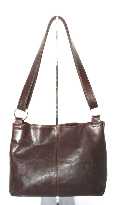 Kairos Brown Leather Messenger Bag - Joyce's Closet  - 1