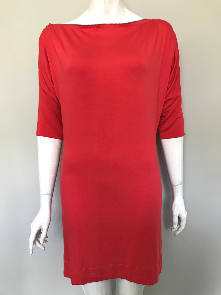 Armani Exchange Orange-Red Tunic Shirt Dress Size M