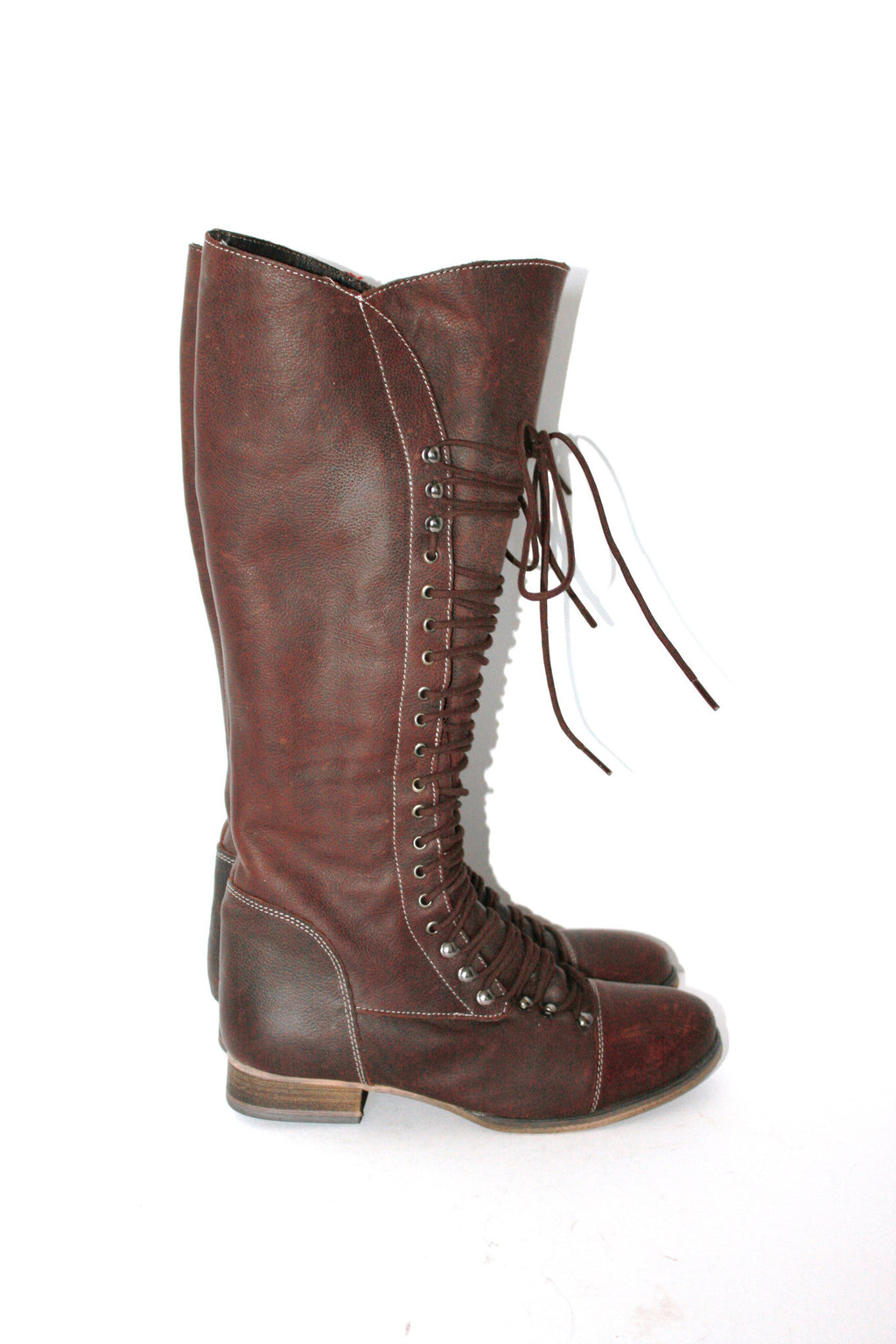 Brand New Steve Madden Tall Leather Perrin Brown Boots - Joyce's Closet  - 1