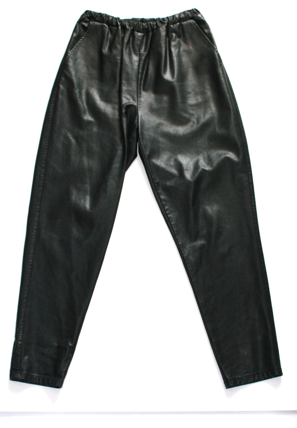 Brand New Asos Faux Leather Black Joggers Pants - Joyce's Closet  - 1