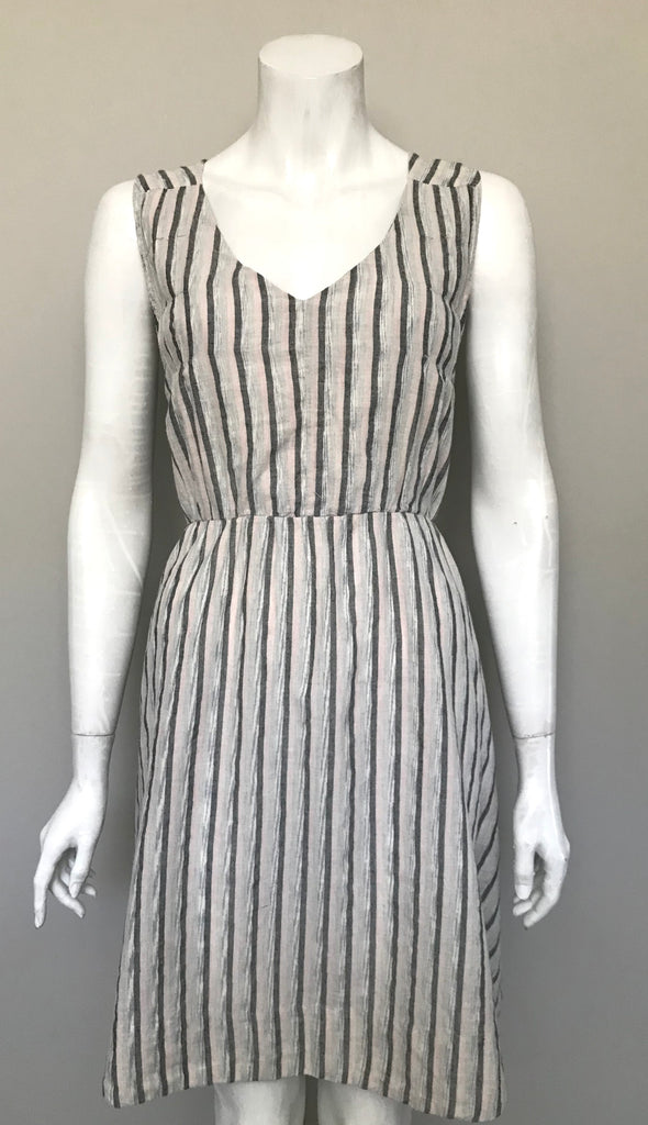 Covet Grey & White Stripe Dress Size 6