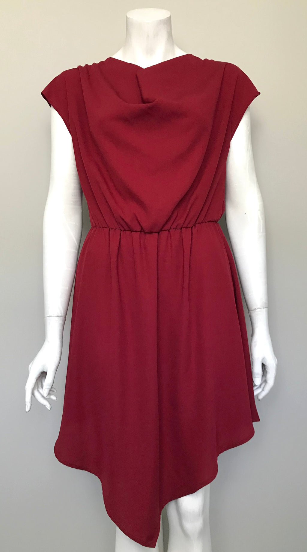 Peppermint Red Assymetrical Dress Size M