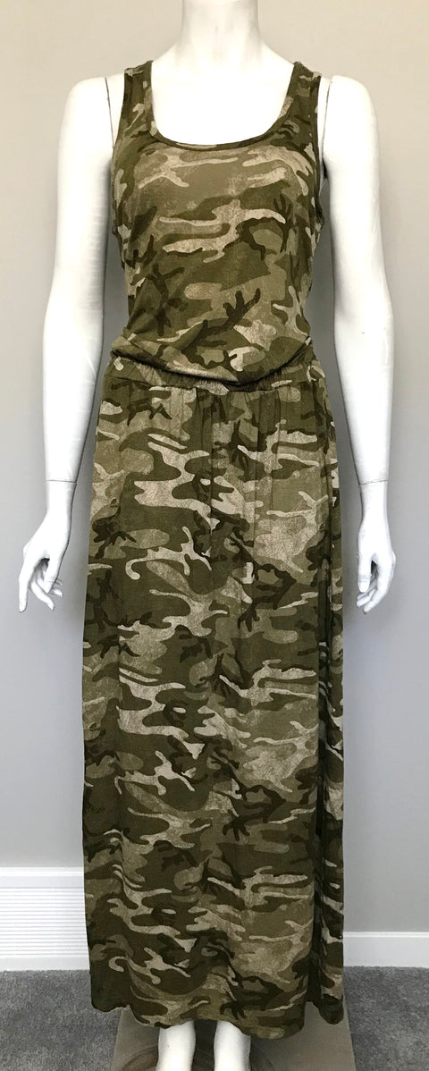 Michael Kors Camo Sleeveless Maxi Dress Size M