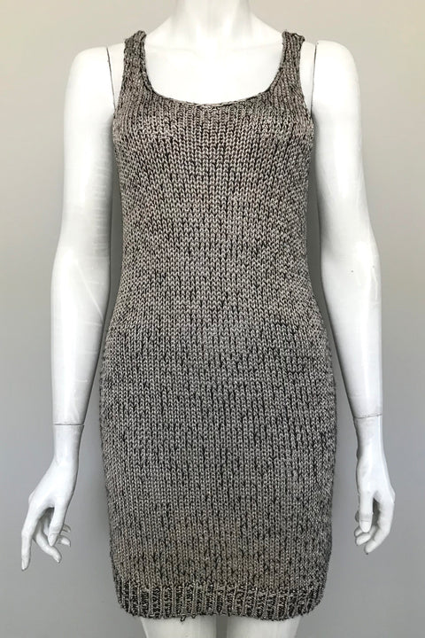 H&M Metallic Gold Sweater Dress Size 12