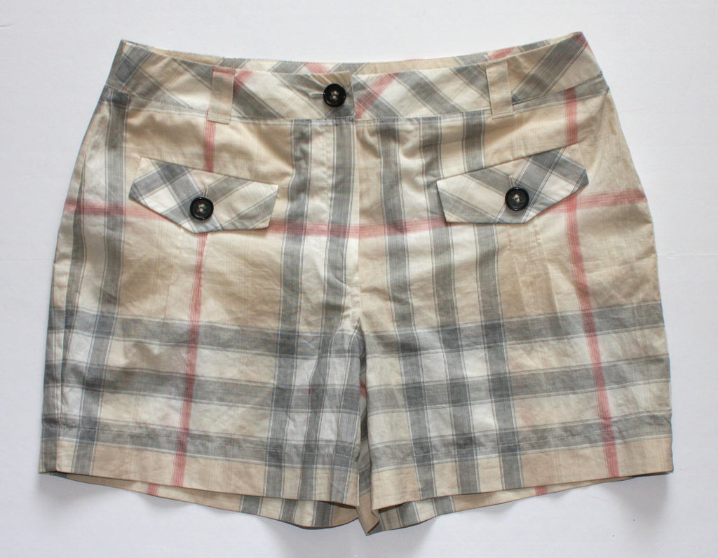 Burberry London Plaid Shorts - Joyce's Closet  - 1