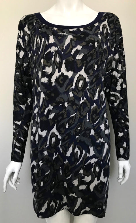 French Connection Multi- Colored Tunic Shirt Size 8
