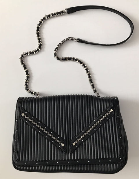 Brand New Zara Black Faux Leather Cross Body Bag