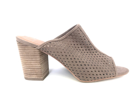 Brand New Union & 14th Taupe Open Toe Mule Size 12