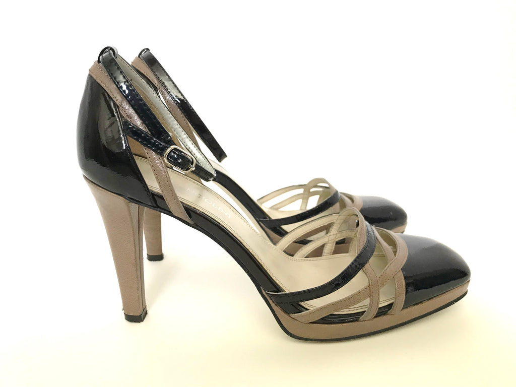 Enzo Angiolini Brown & Taupe Colorblock Heel Size 6