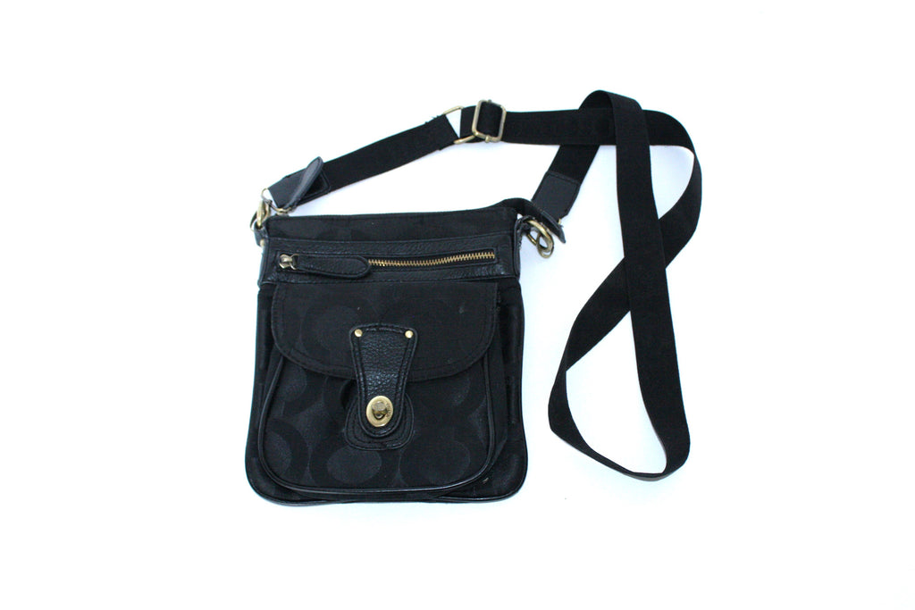 Coach Black Canvas Cross Body Bag - Joyce's Closet  - 1