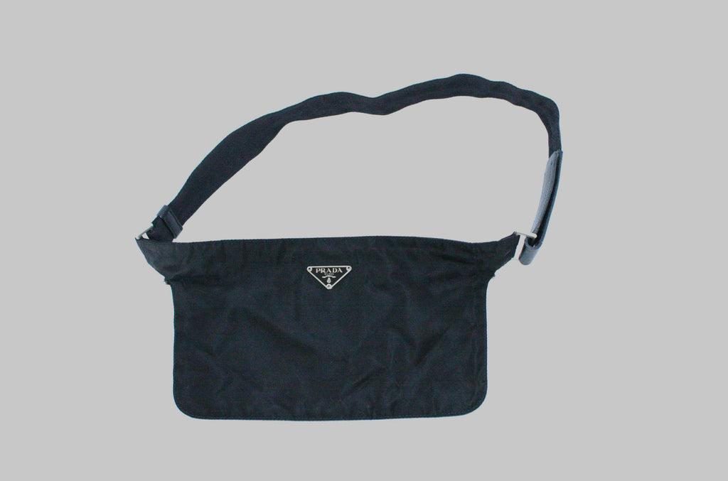 Prada Black Canvas Fanny Pack Waist Bag - Joyce's Closet  - 1