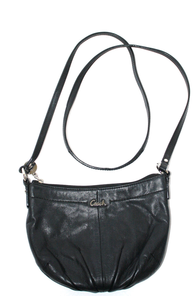 Coach Black Leather Mini Cross Body Bag - Joyce's Closet  - 1