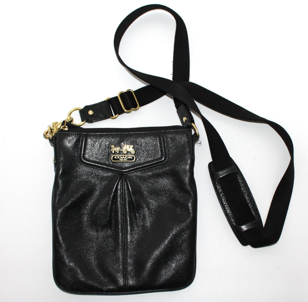 Coach Black Square Leather Cross Body Bag - Joyce's Closet  - 1