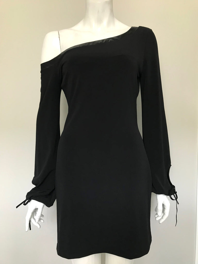 Guess Black Off-Shoulder Dress Size M
