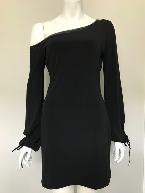 Guess Jeans Black Off-Shoulder Dress Size XS