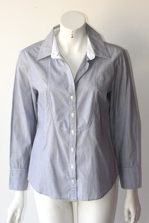 Banana Republic Fitted Pinstripe Long Sleeve Button Down Shirt - Joyce's Closet  - 1