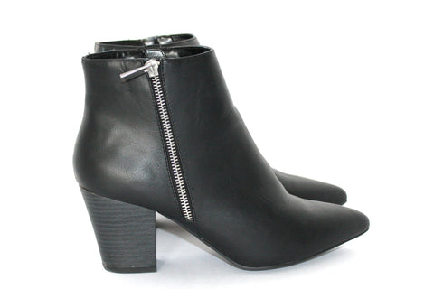 Brand New New Look Black Zip Up Ankle Booties - Joyce's Closet  - 1