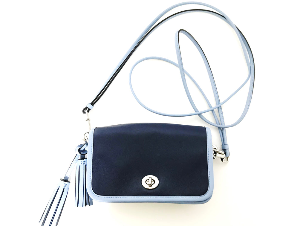 Coach Blue Leather Cross-Body Bag