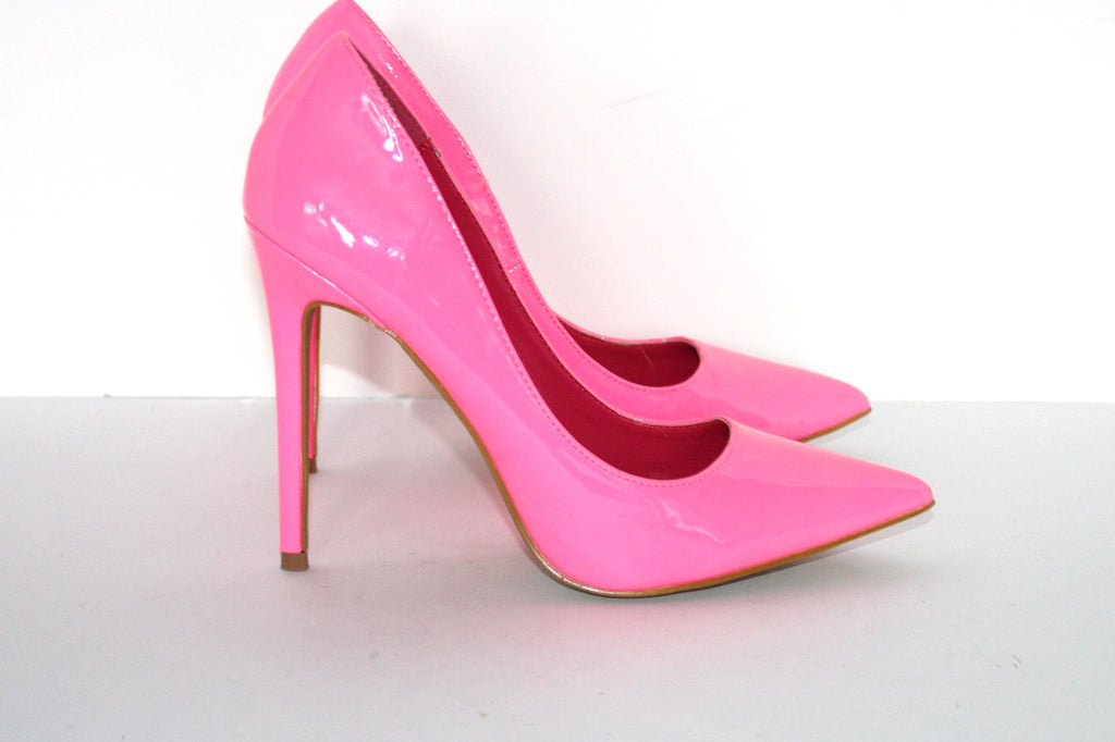 Brand New Hot Pink LA Shoe Republic Paltrow Pointy Patent Leather Pump - Joyce's Closet  - 1