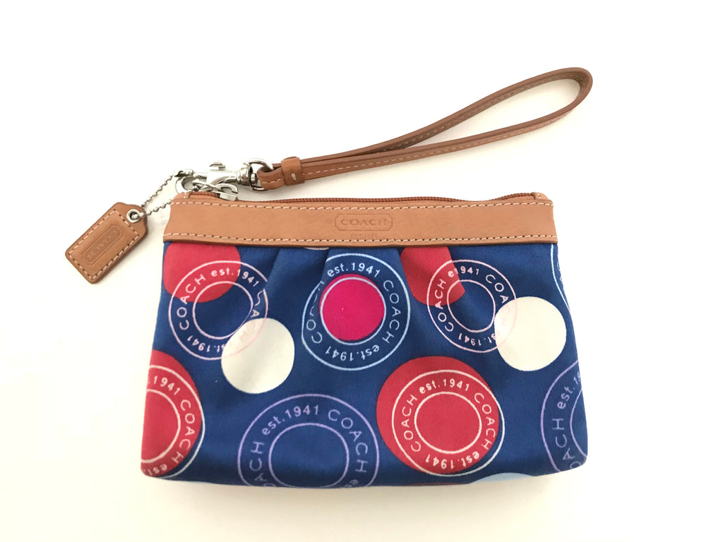 Coach Multi-Color Canvas Wristlet