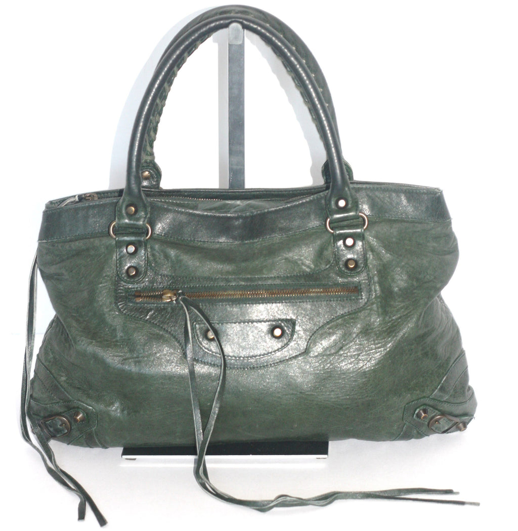 Balenciaga Forest Green Classic City Bag - Joyce's Closet  - 1