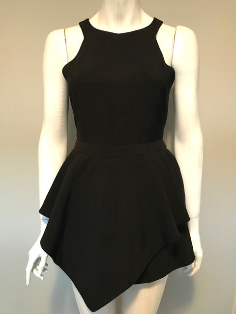 Evenuel Black Cut-Out Romper Size L