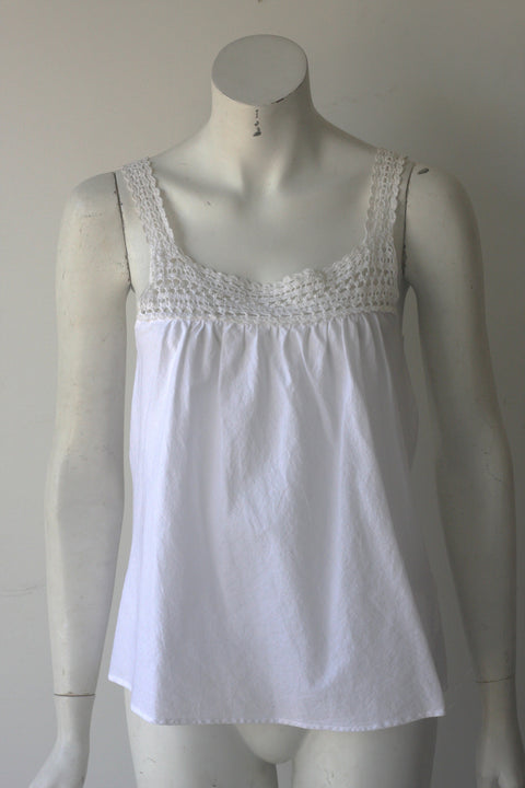Vince White Sleeveless Tank - Joyce's Closet  - 1