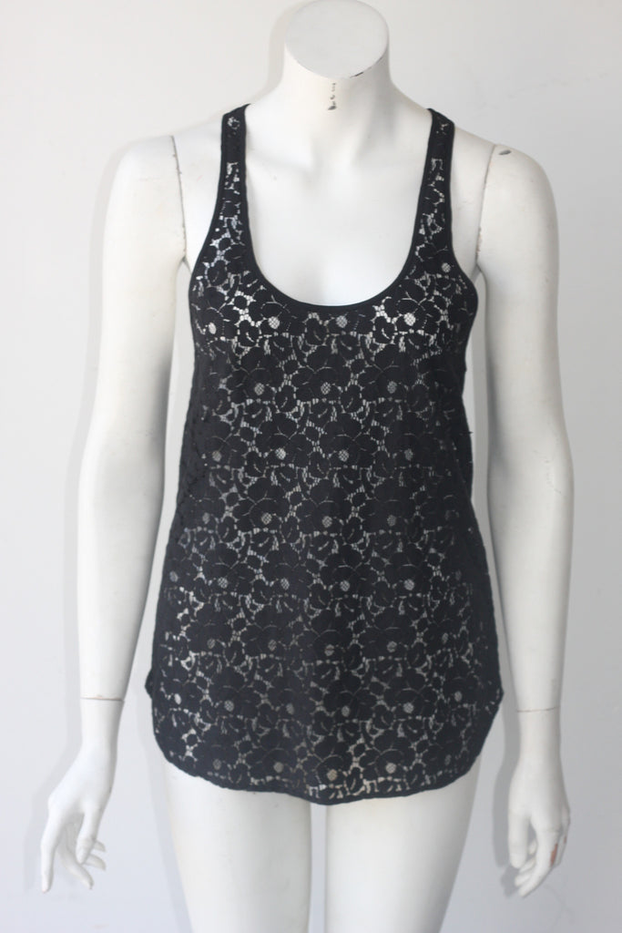 Wilfred Black Lace Racer Back Tank - Joyce's Closet  - 1