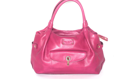 Kate Spade Stevie Classic Fuchsia Pink Leather Bag - Joyce's Closet  - 1