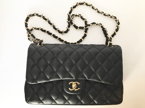 Chanel Double Flap Jumbo Lambskin GHW Handbag