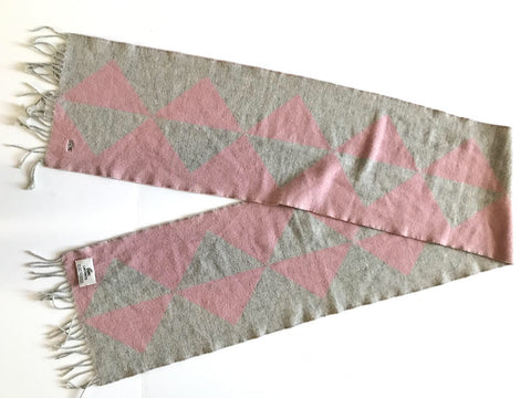 Lacoste Pink & Grey Cashmere Scarf