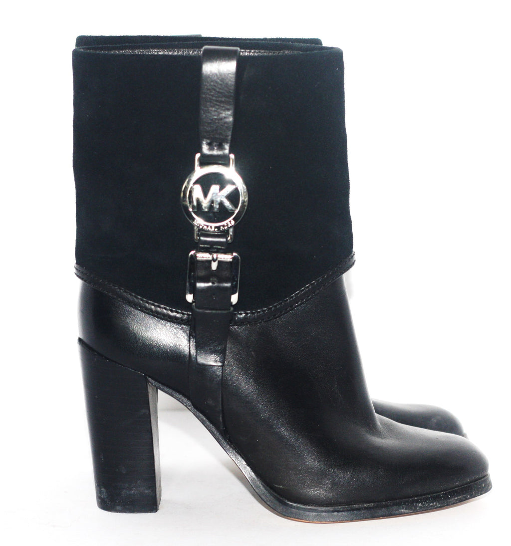 "Michael Kors Black ""Fulton"" Suede & Leather Boots - Joyce's Closet  - 1"