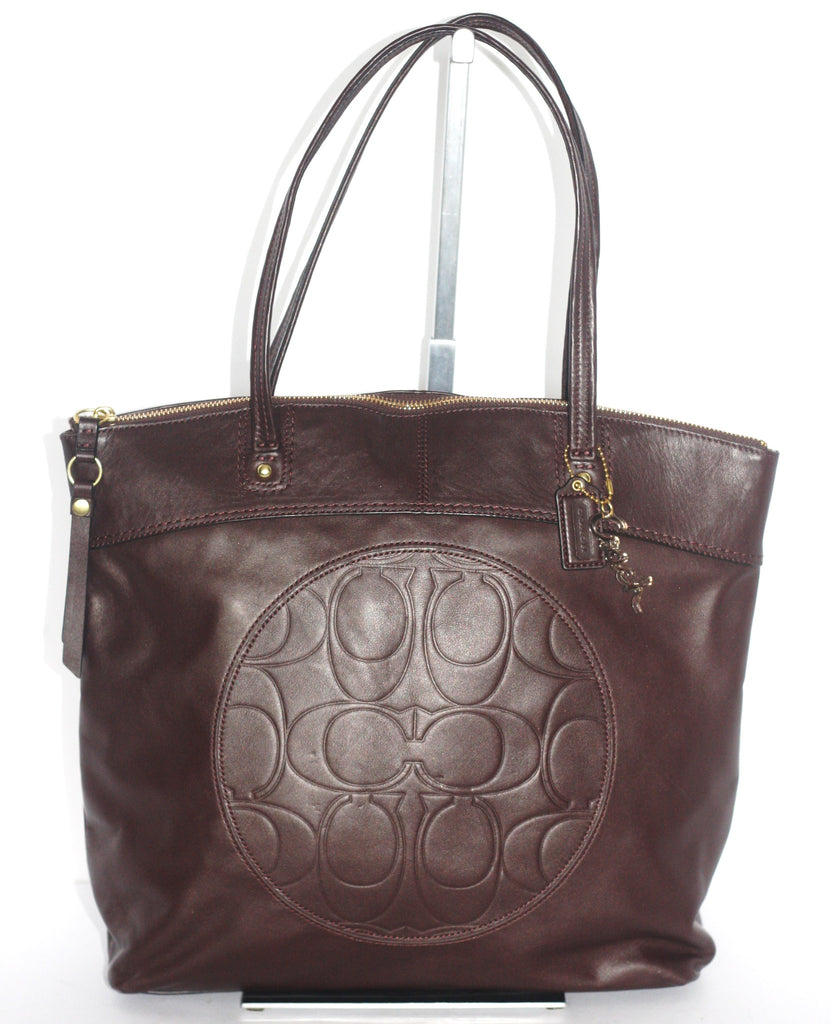 Brand New Coach Chocolate Brown Leather Tote - Joyce's Closet  - 1