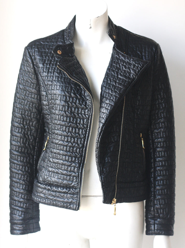 Ness Quilted Black Moto Jacket - Joyce's Closet  - 1