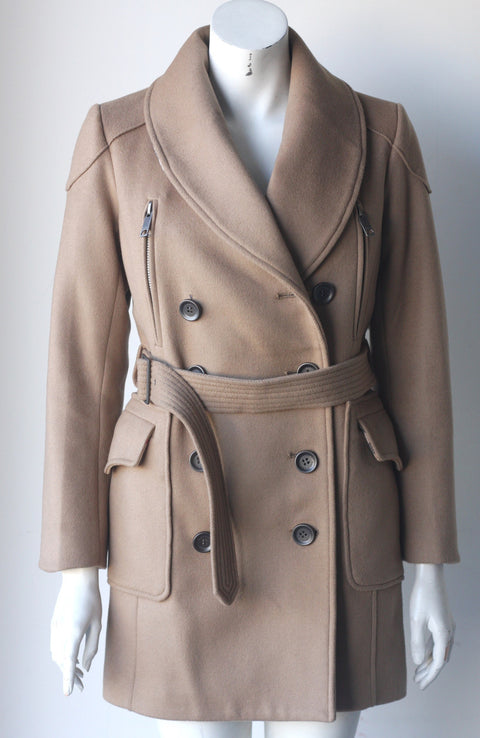 "Burberry London ""Kensington"" Camel Belted Wool Coat - Joyce's Closet  - 1"