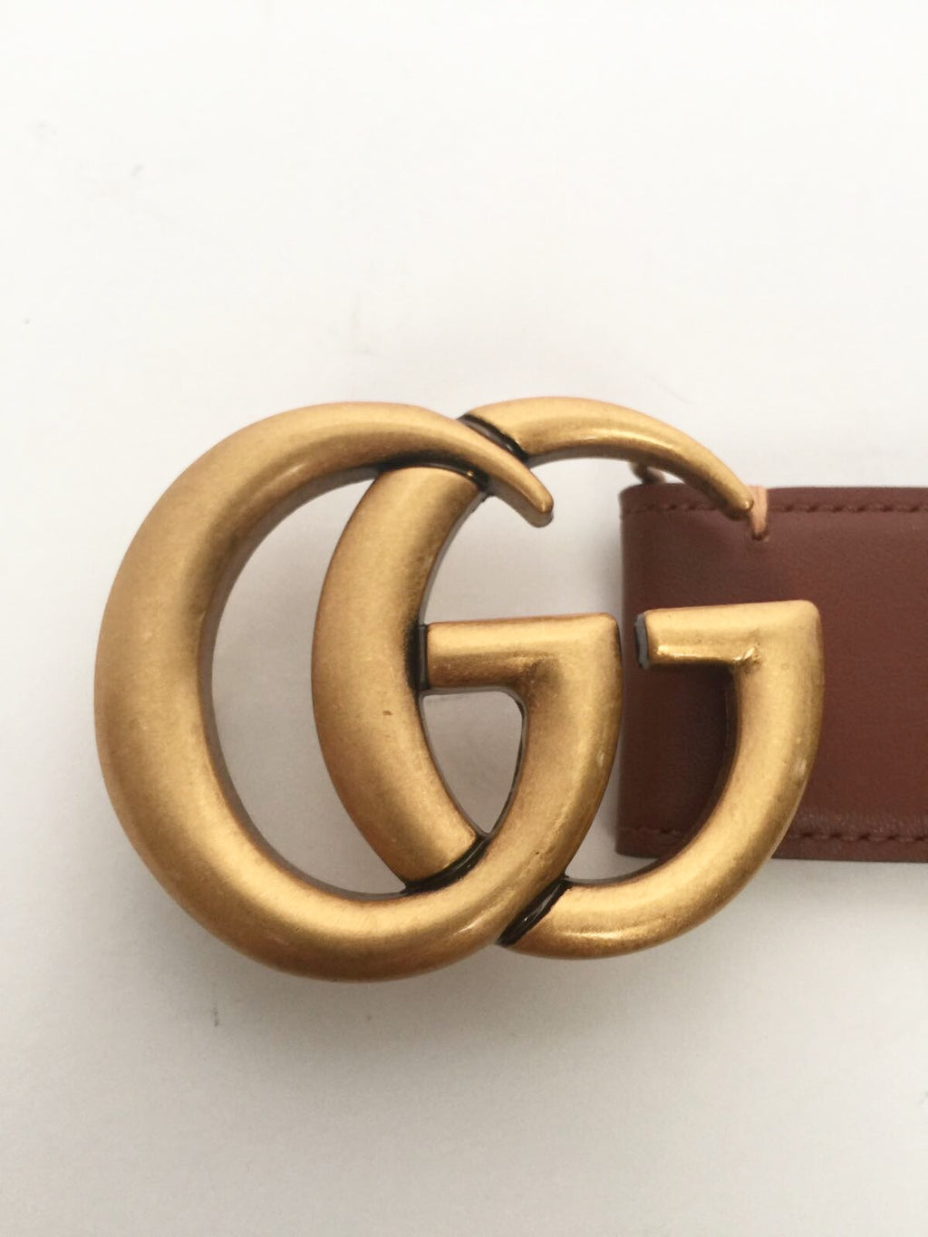 5956b57126d Brand New Gucci GG Red   Green Canvas Brown Leather Belt – Joyce s ...