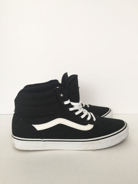Vans Black Sk8 Milton Hi-Top Sneakers Size 8